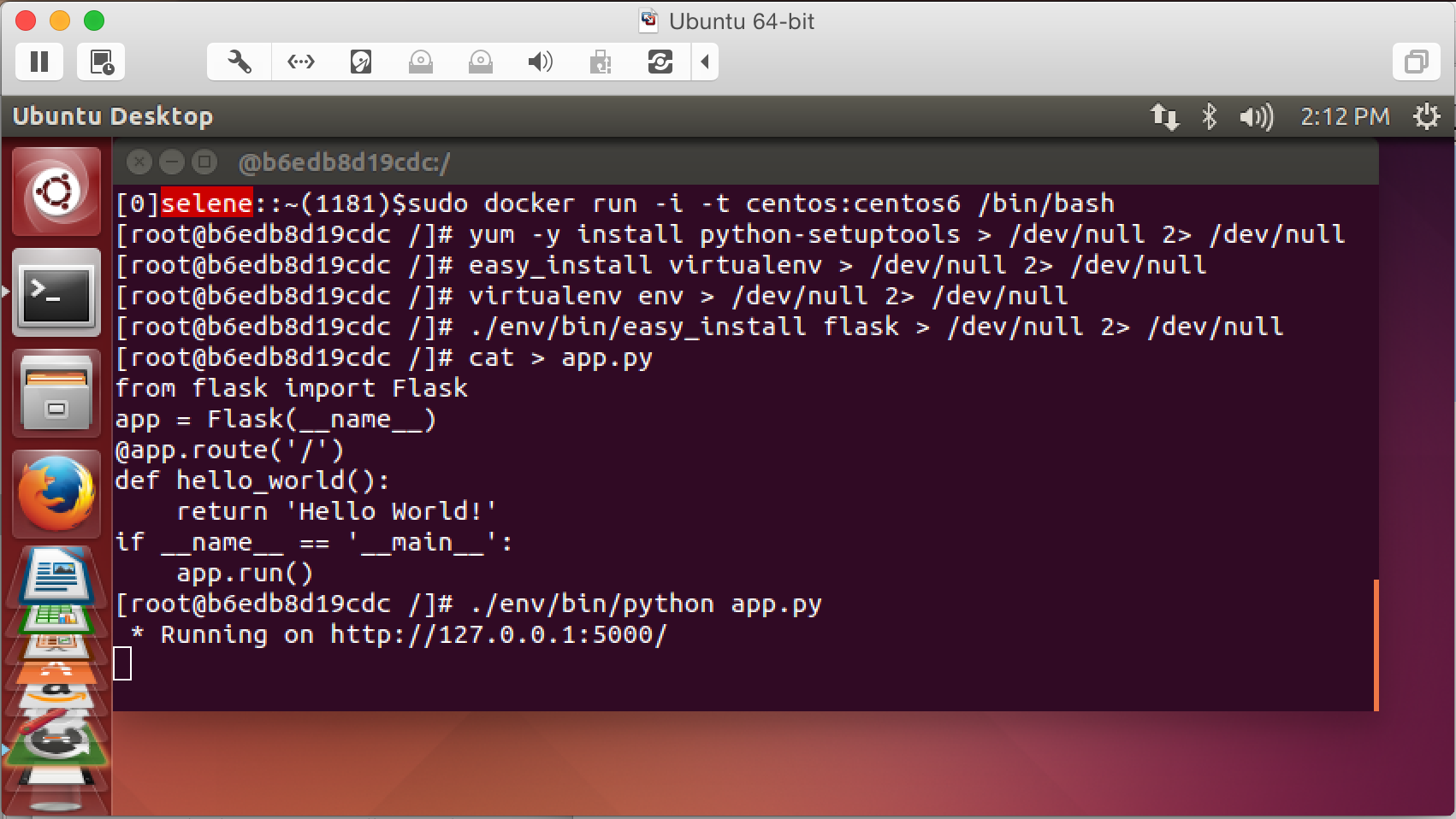"""Flask in Docker in VMware on Mac"""